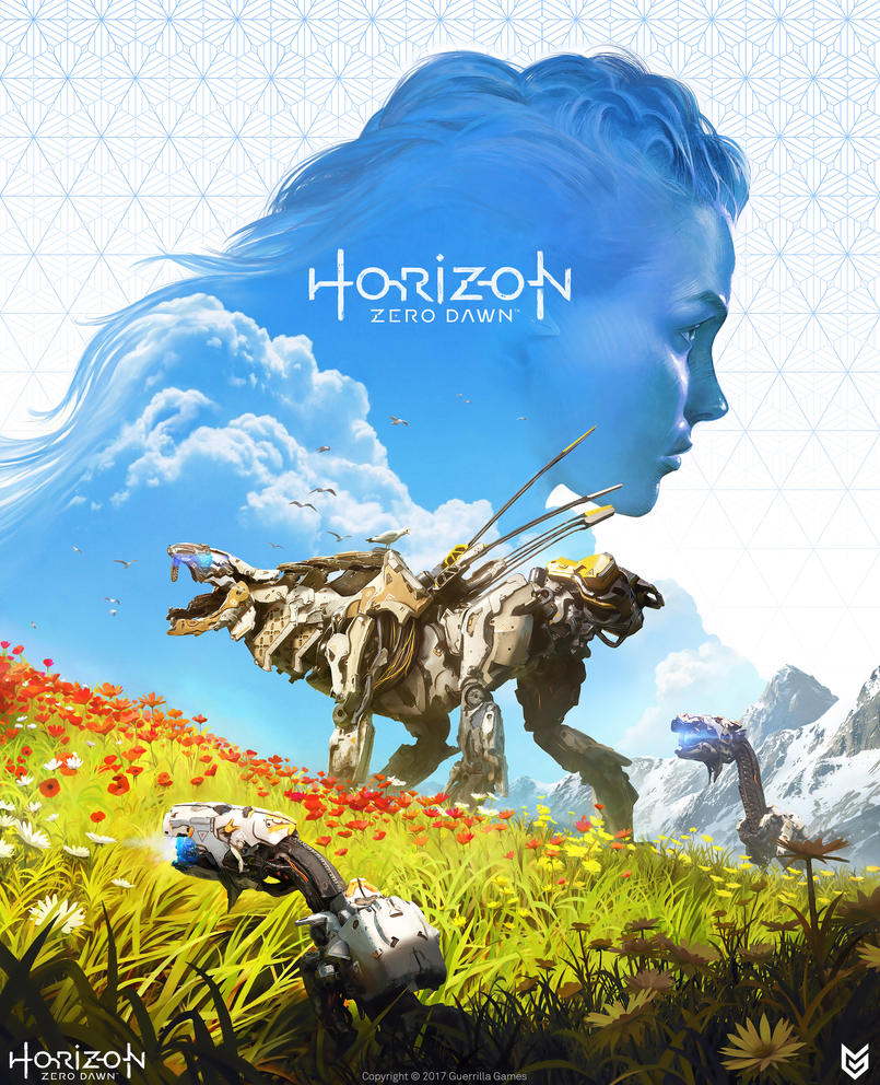 Horizon Zero Dawn strategy guide cover by Omuk