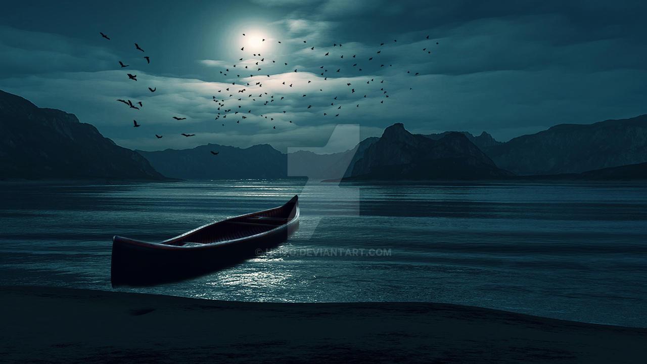sea night background by usito on deviantart
