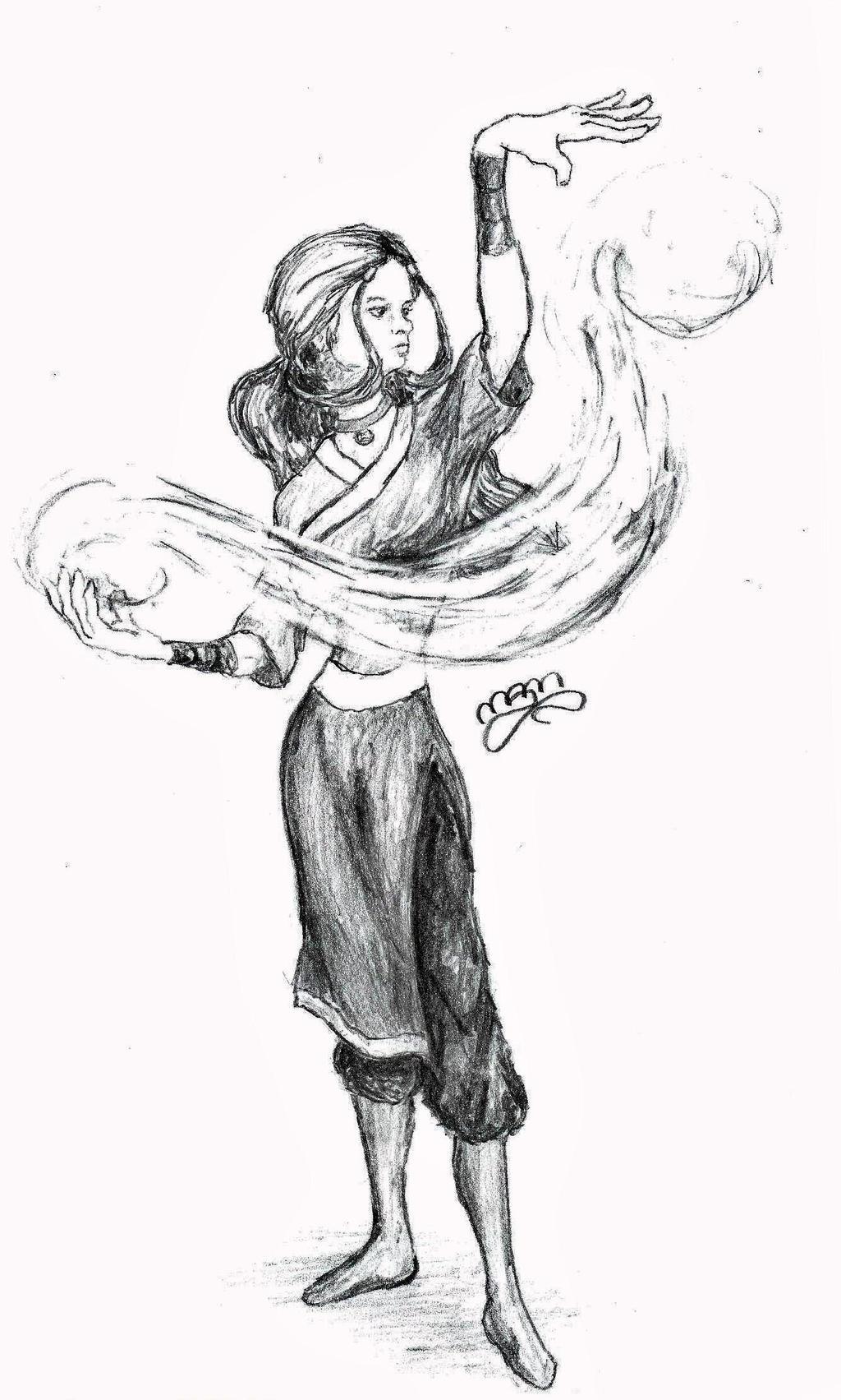 M J Sketch Images Katara Sketch by drago...