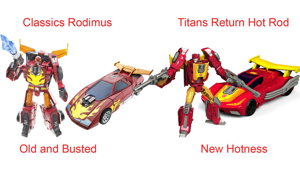 Classics Rodimus vs Titans Return Hot Rod by foldabotZ on DeviantArt