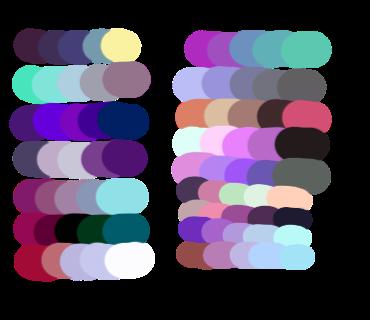 Purple Color Palette Bedroom