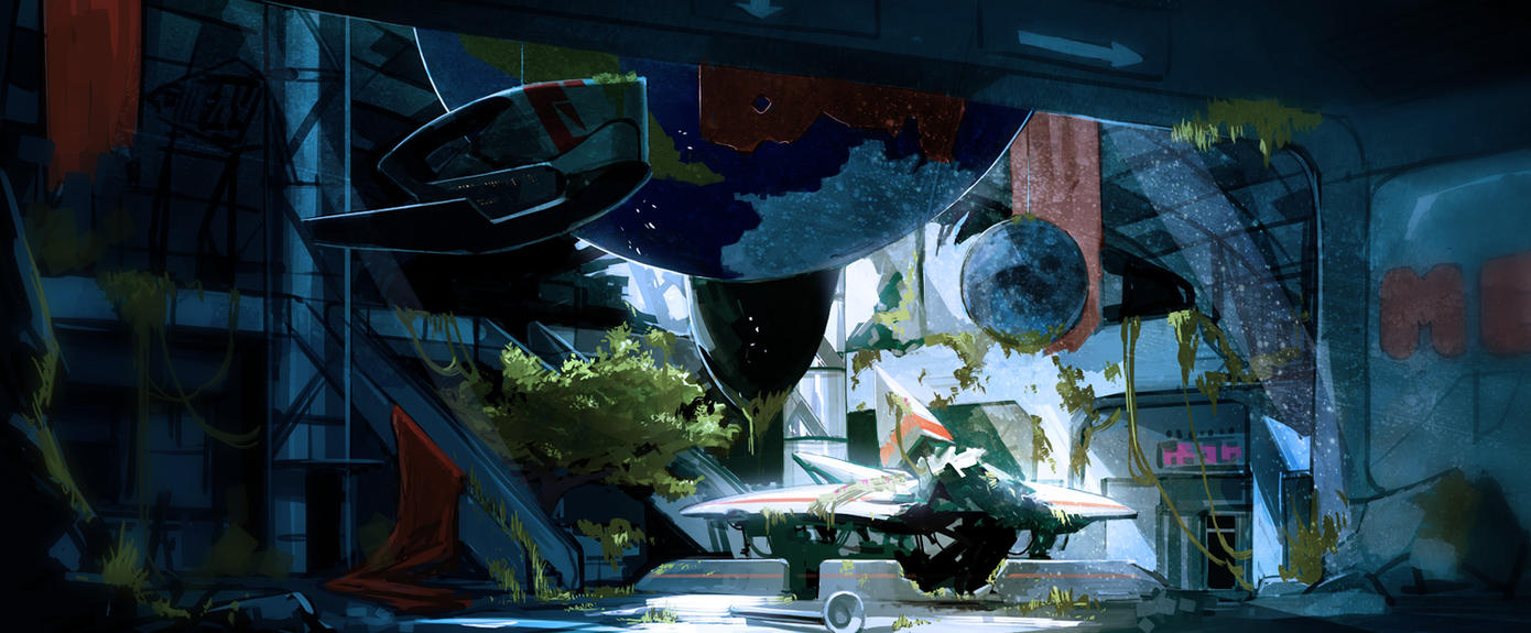 Ruined Lobby by TroyGalluzzi