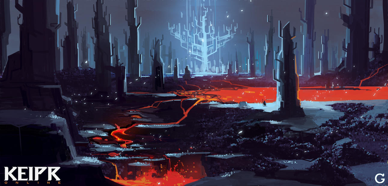 Keipr Online: Lava Forest by TroyGalluzzi