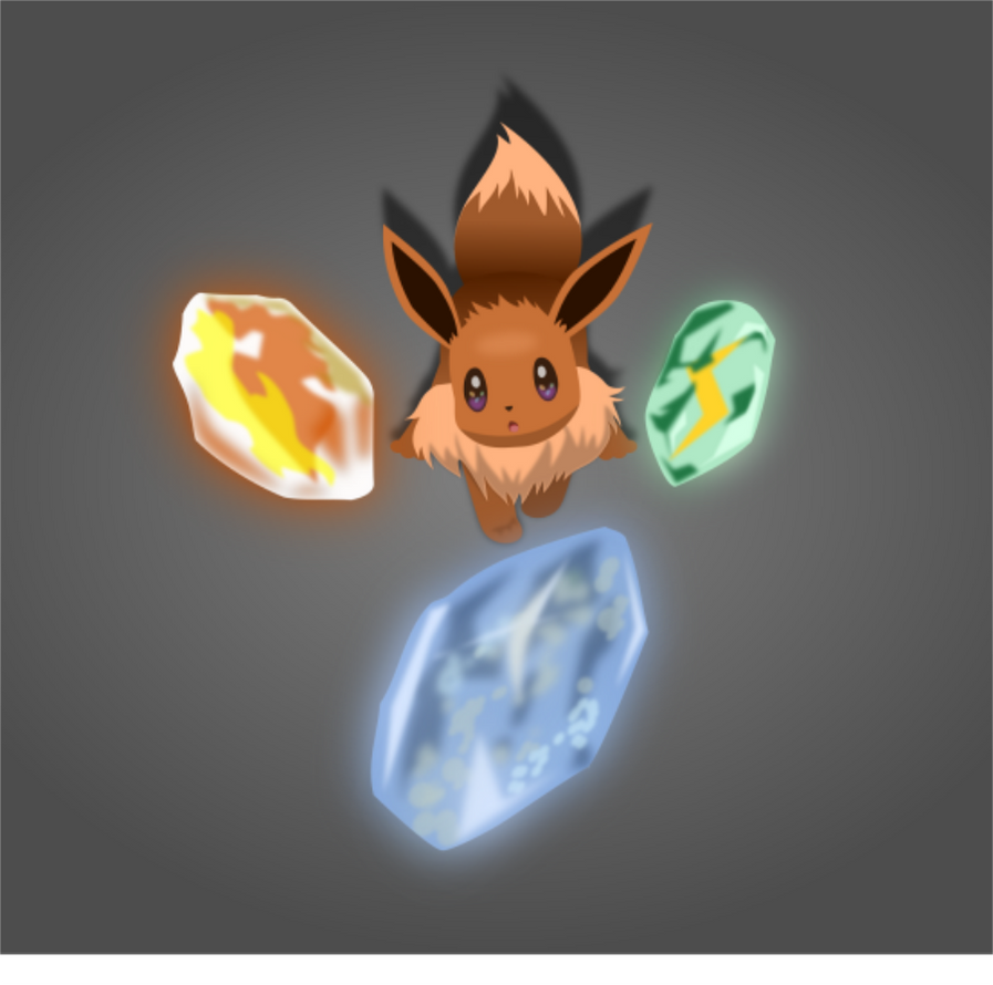 Eevee and the Evolution Stones by KalWalker