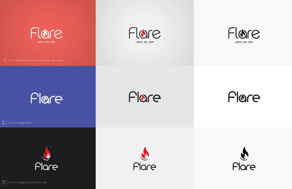 Flare Logo Flare Logo Concepts by Zokac1