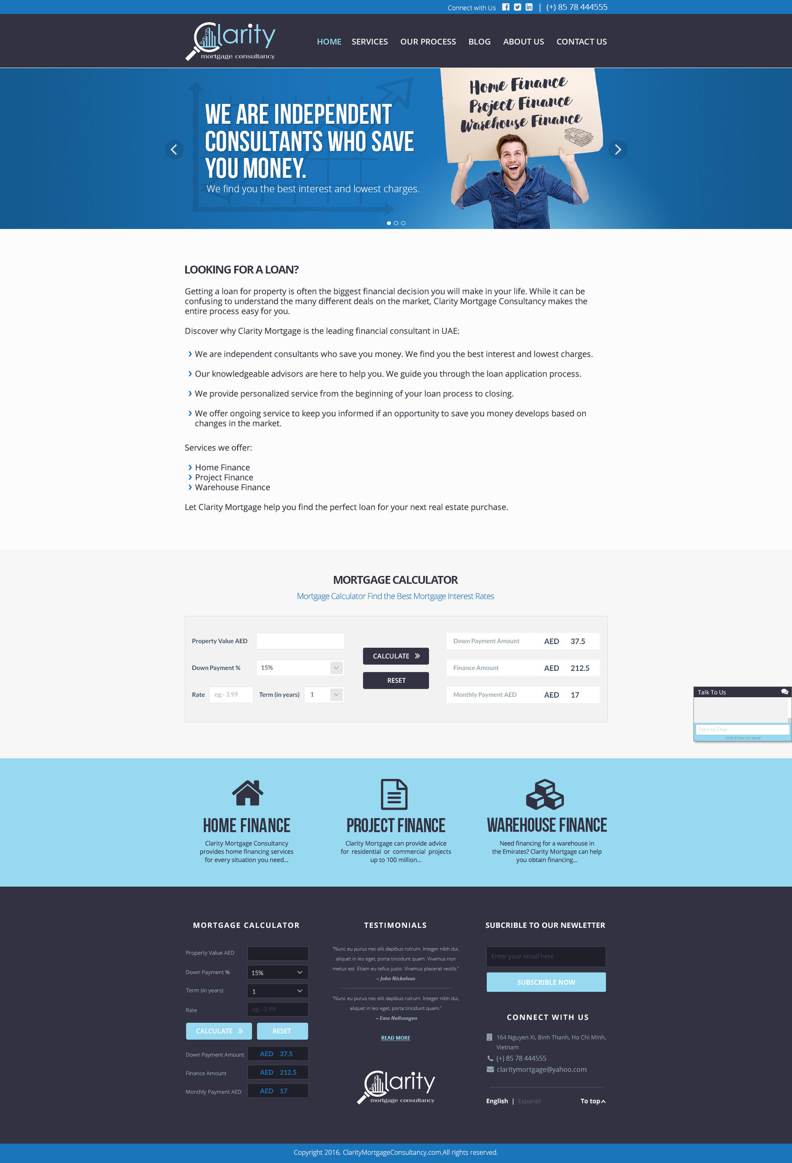 Clarity Mortgage Consultancy HOMEPAGE by zokac1