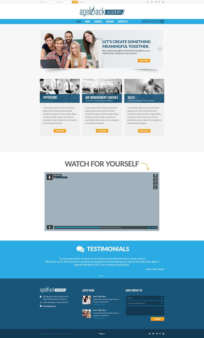 Ageback ACADEMY Homepage by zokac1