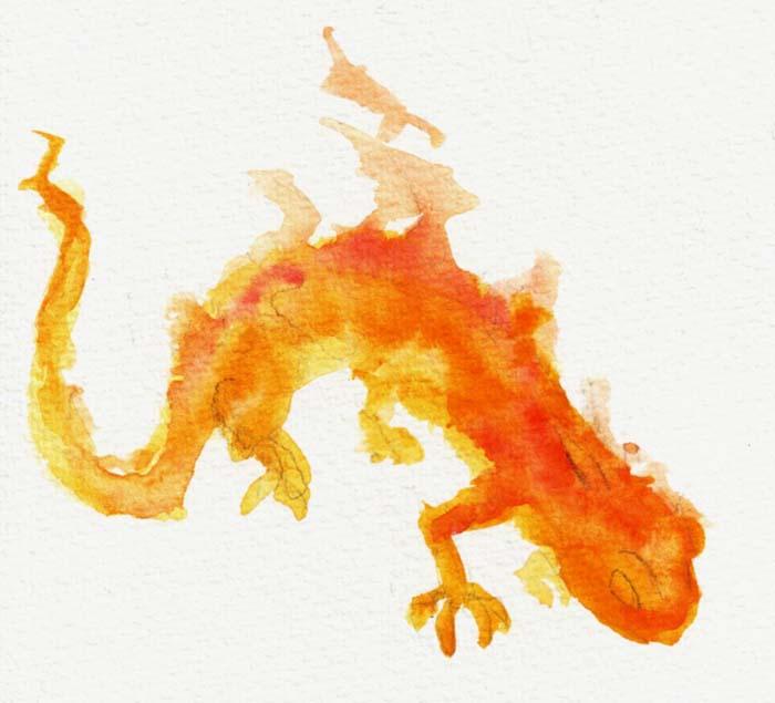 Fire salamander tattoo - photo#16