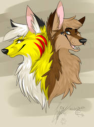 Lucky and Skuff Coyote by Wufskeh