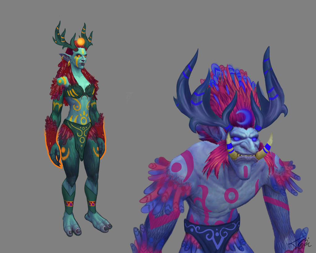 WOW Troll Druid Moonkin Form by Tonig2 on DeviantArt