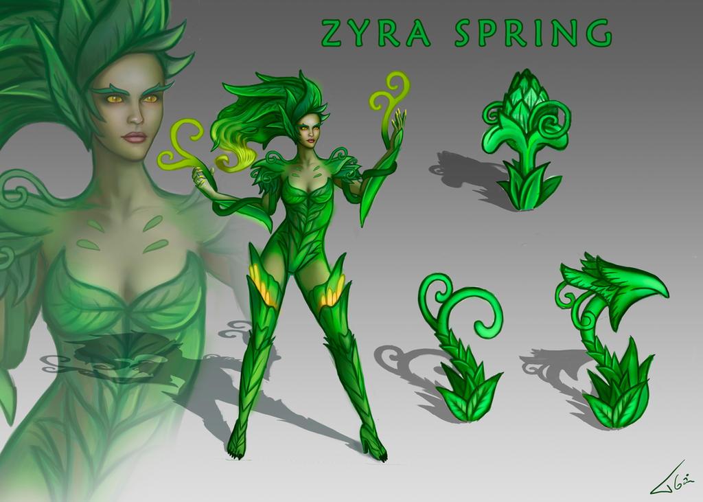 Zyra new skin Spring by Tonig2