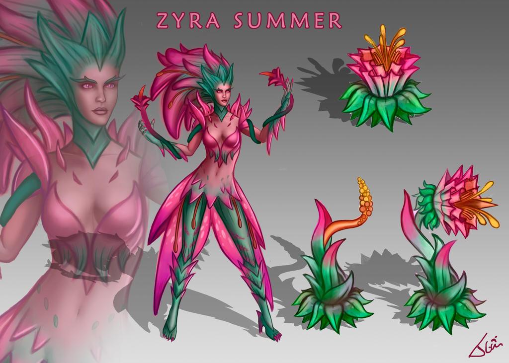 Zyra new skin Summer by Tonig2