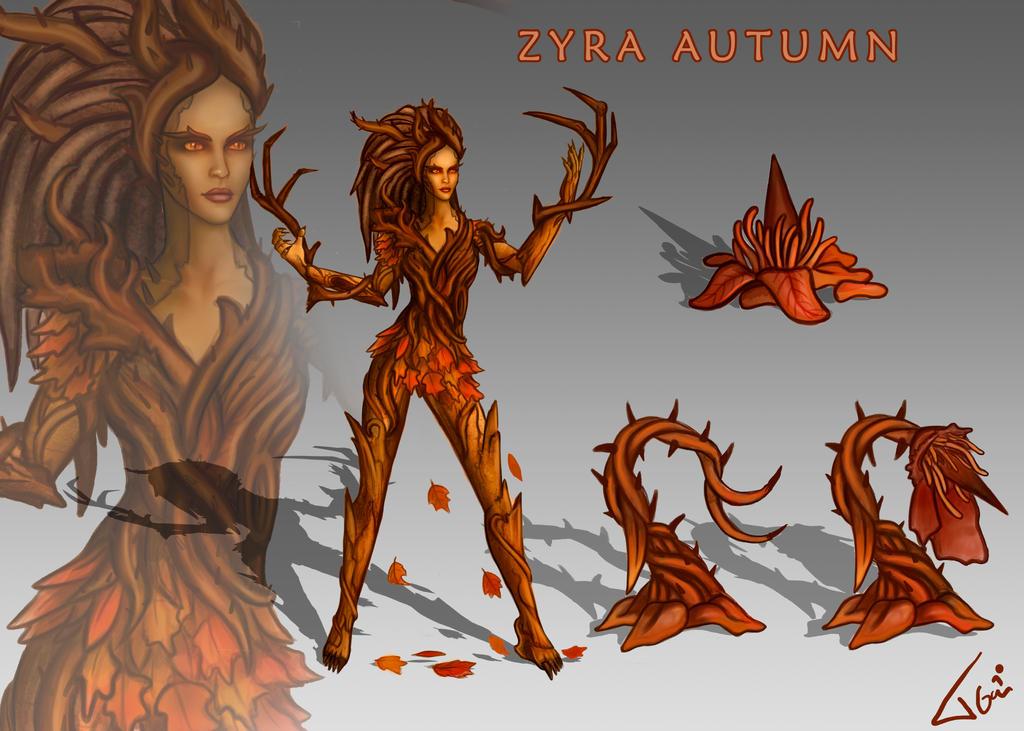 Zyra new skin Autumn by Tonig2