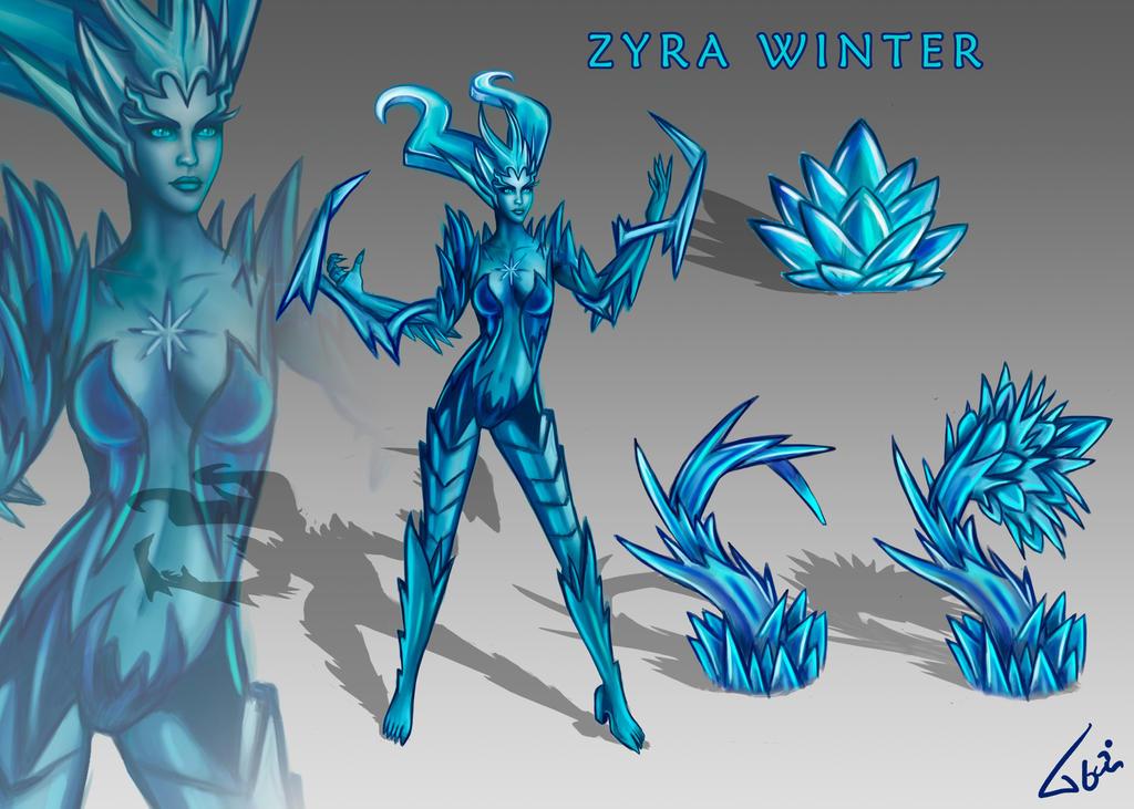 Zyra new skin Winter by Tonig2