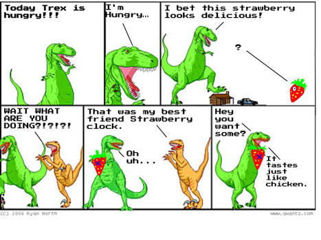 Trex is that HUNGRY?