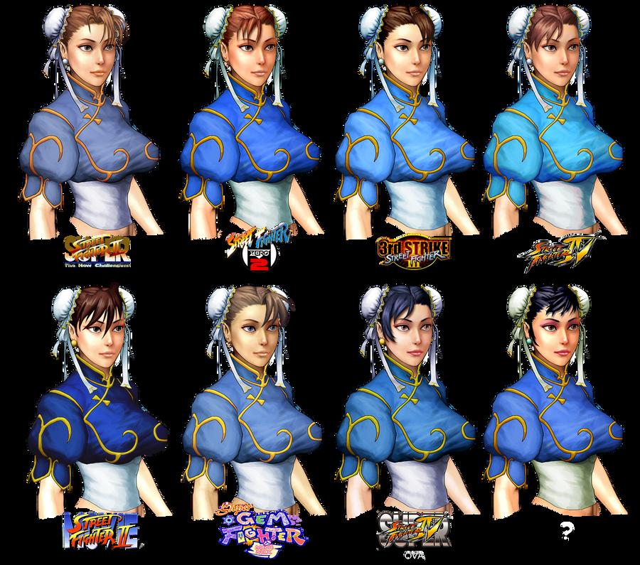 Hairstyle Evolution : chun-li hairstyle evolution by barakkka on DeviantArt