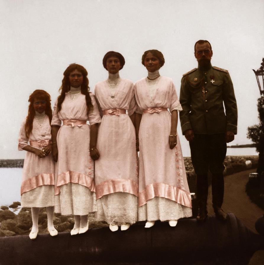 Nicholas II and OTMA by Cimmar...