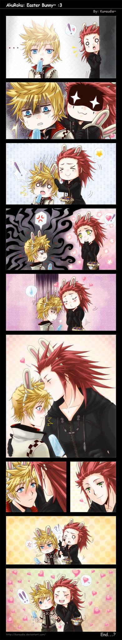 +KH: AkuRoku: Easter Bunny :3+ by kuraudia