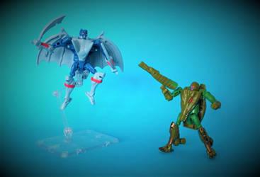 Beast Wars - Optimus Primal vs Megatron by The-Dapper-Scrapper