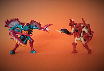 Beast Wars - Razorclaw vs Razorbeast by The-Dapper-Scrapper