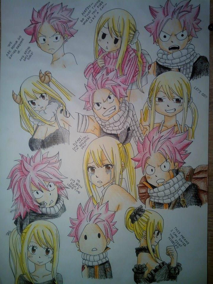 Natsu A Lucy Moments From Manga By Silittle On Deviantart