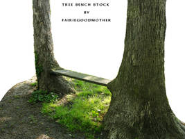 Natural Tree Bench Stock 2 by FairieGoodMother