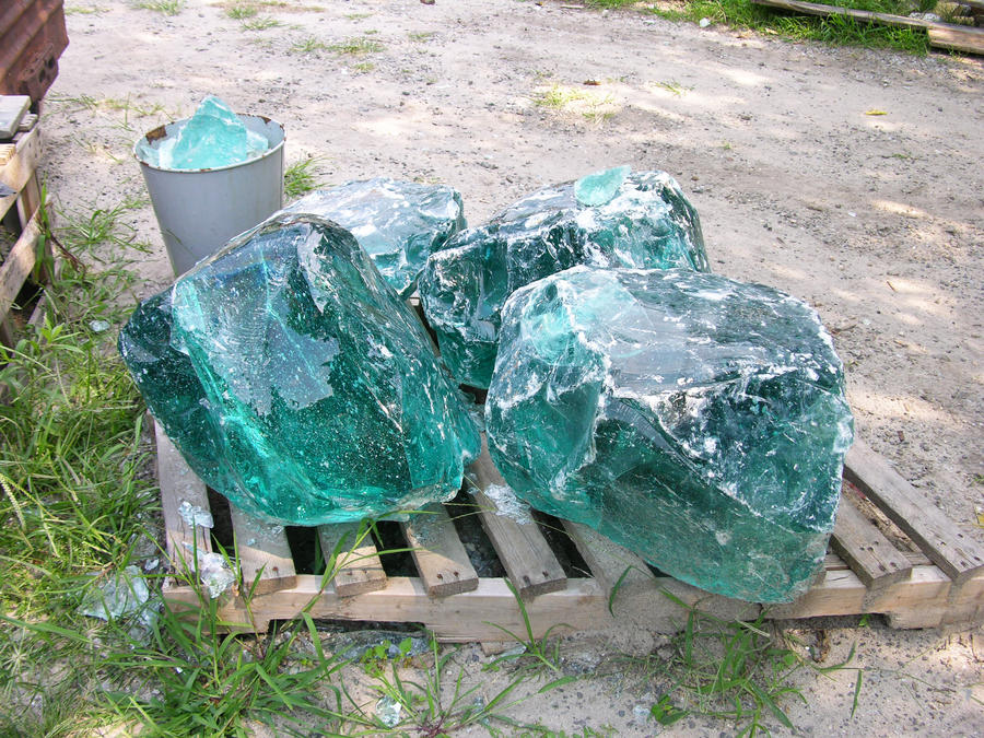 Green melted glass rocks 7 by fairiegoodmother on deviantart for Large garden rocks for sale