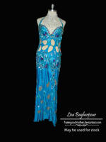 Long Blue Dress Stock by FairieGoodMother