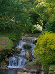 Garden with waterfall stock 10