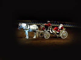 Santa with Horse and carriage by FairieGoodMother