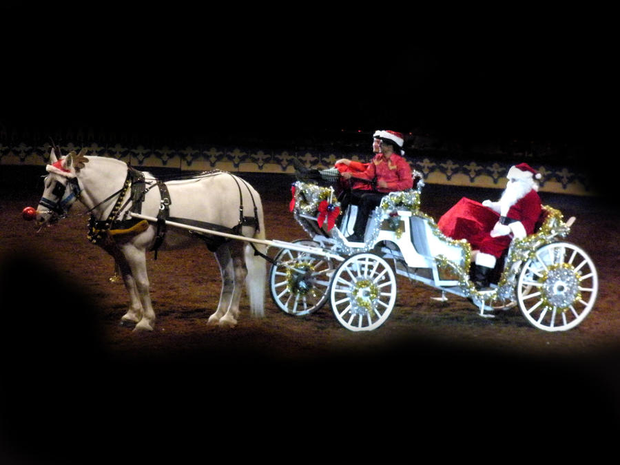 santa horse buggy coloring pages - photo#34