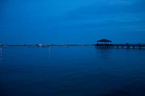 Pier at Night by FairieGoodMother