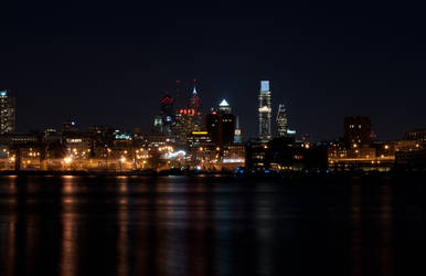 Philadelphia City Skyline Long Exposure 07