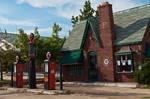 Vintage Phillip Gas Station 01