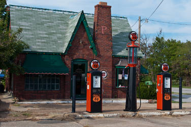 Vintage Phillip Gas Station 02 by FairieGoodMother