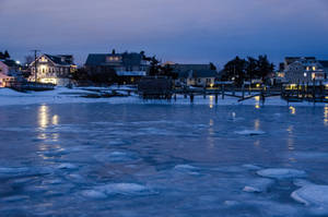 Somers Point Beach Frozen by FairieGoodMother