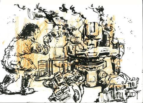 An Art A Day #087 - 'Fried'