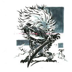 Doodles 038 - MGR Raiden by artofTZU
