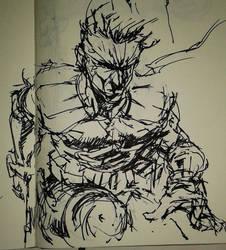Doodles 0053 'SNAKE' by artofTZU