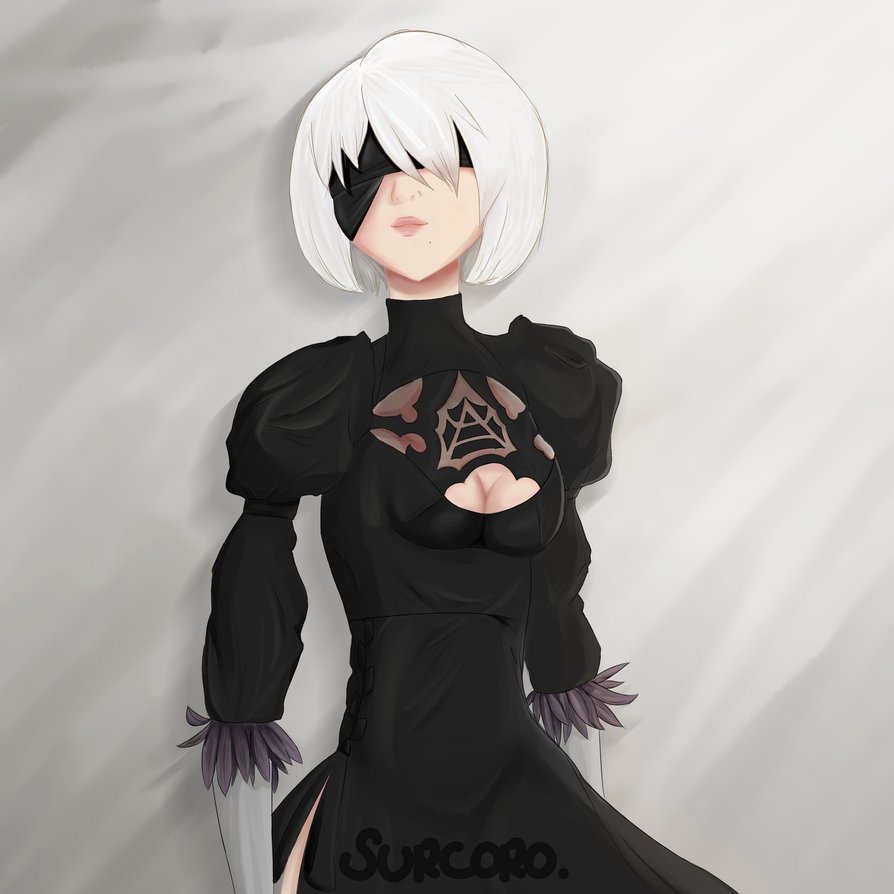 2b Fan art by Surcoro