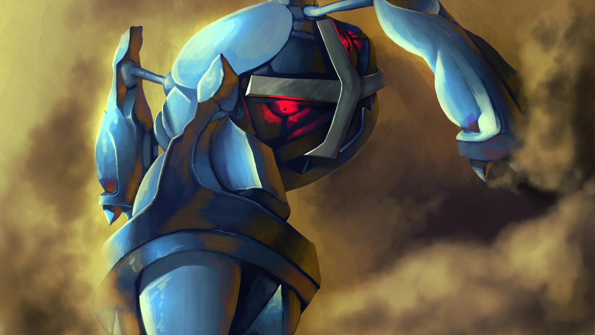Pokemon Mega Metagross Card Metagross Speed Painting By Aetaluta Dyxlu