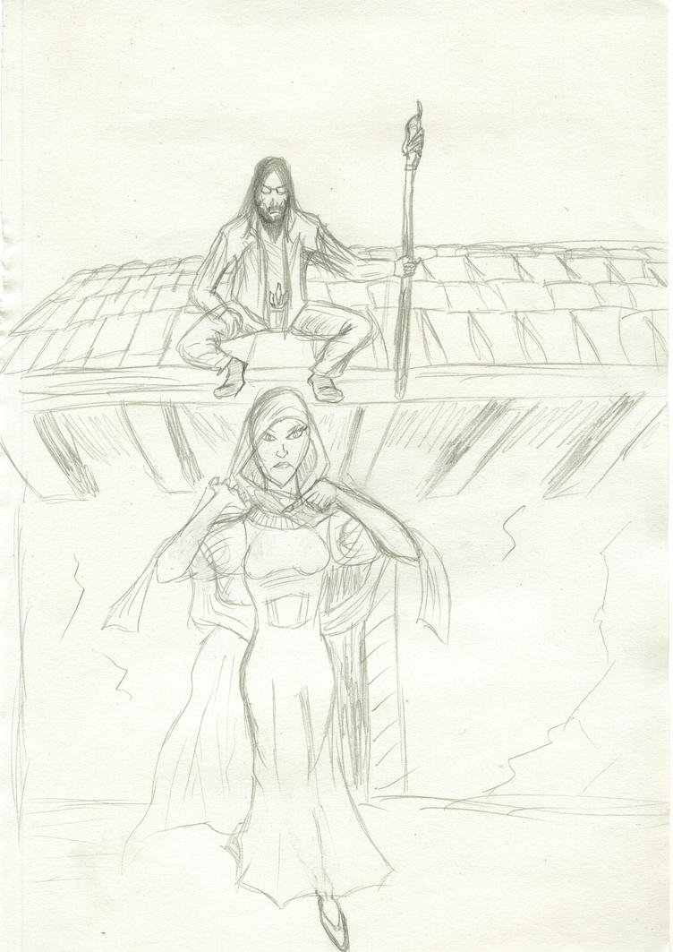 Revamped characters plus a few creations of mine Ghost_woman_with_deus_nova_sketch_by_fg_arcadia-d52mjvj
