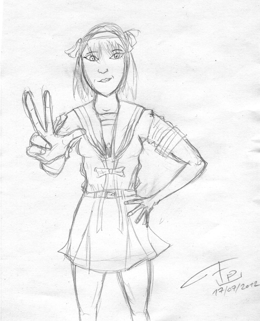 Haruhi Suzumiya sketch (2014 update) by FG-Arcadia