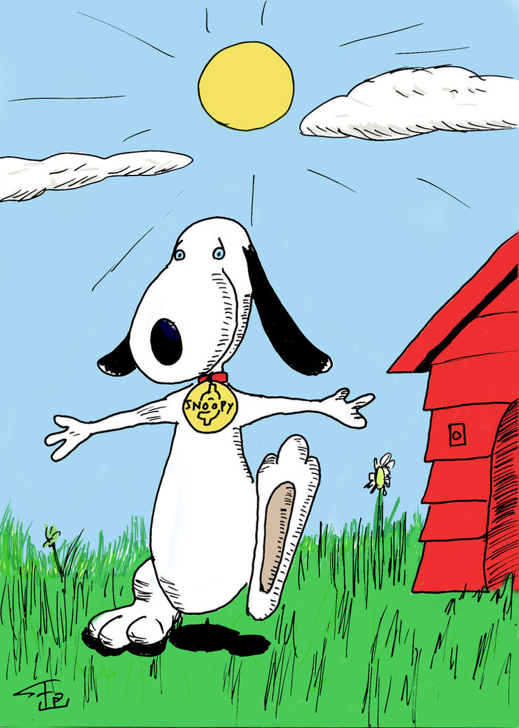Snoopy colored by FG-Arcadia