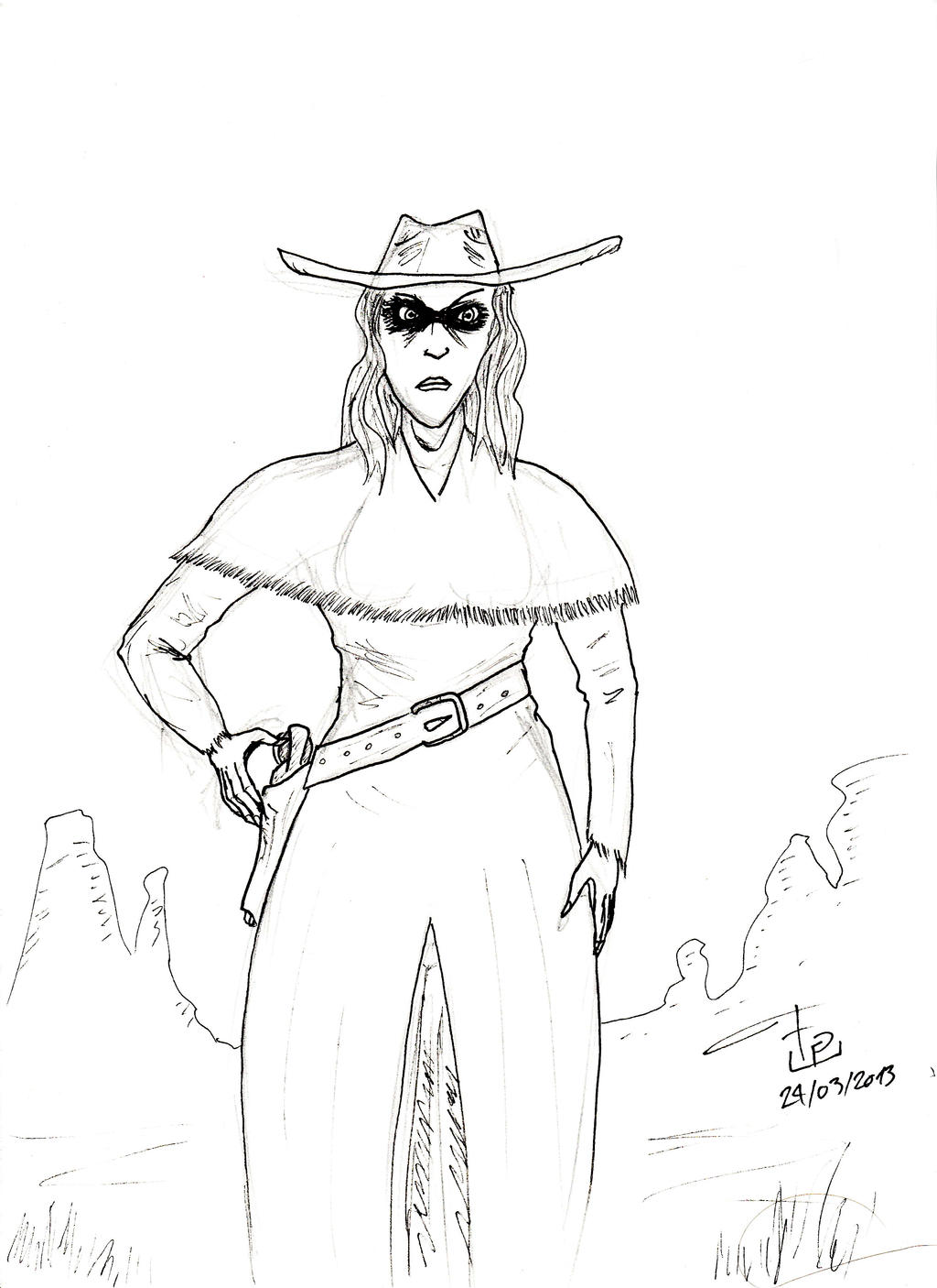 Revamped characters plus a few creations of mine Wild_west_red_ann_by_fg_arcadia-d5zgmkk