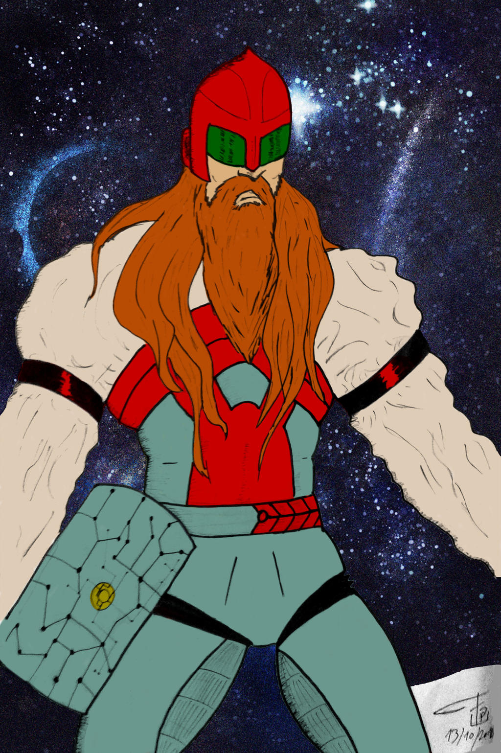 Space Thorr flat colors