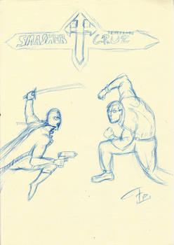 Smasher VS Reverendo Cruz sketch