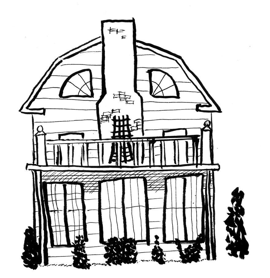 Inktober day 31 - Amityville House by FG-Arcadia
