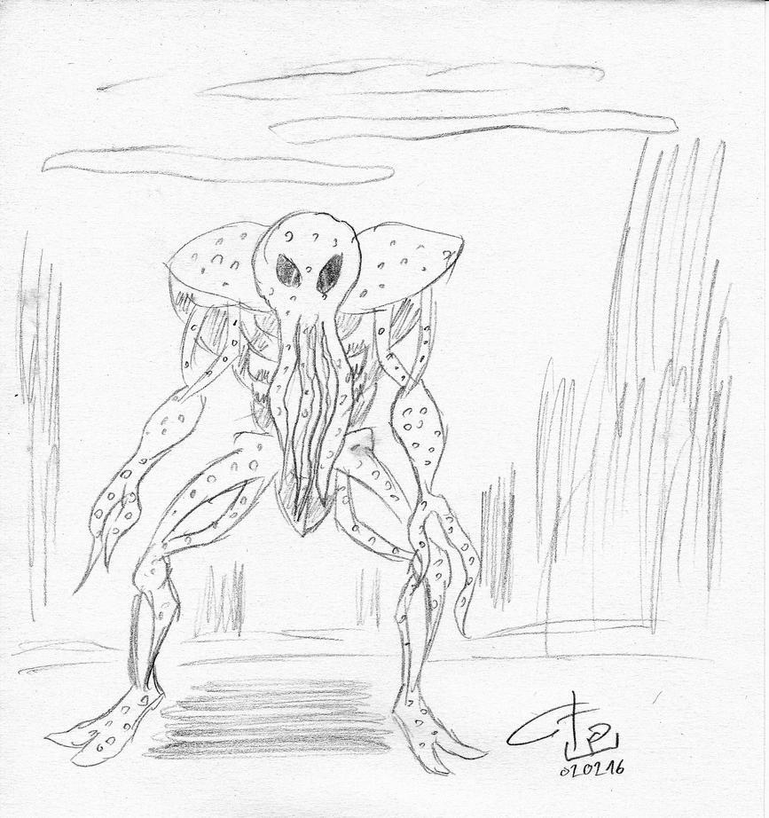 Monstre sketch by FG-Arcadia