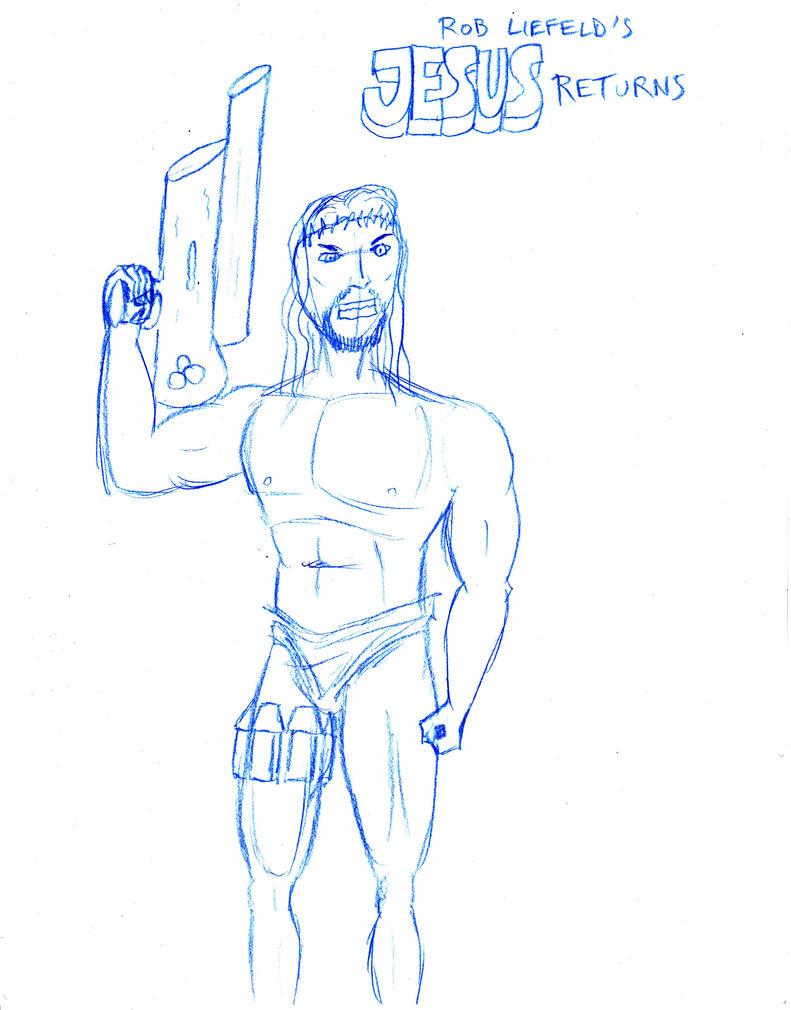 Jesus Returns - Liefeld-style sketch by FG-Arcadia